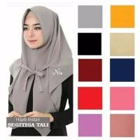 Jilbab Instan Segitiga Tali / Hijab Segitiga Instan Tali / Segi Tiga T