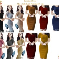 Bintang Rajut Indo || Dress Feyrine Cross Knit BodyCon Dress Rajut Baj