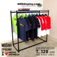 DISPLAY AND 005/GANTUNGAN BAJU/GAWANG/DISTRO/BUTIK/RAK/LAUNDRY/HANGER