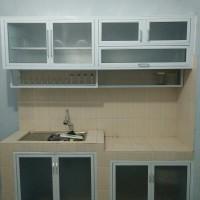 kitchen set aluminium dan kaca