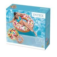 Ban Renang Rainbow Sprinkle Donut Tube 1.14m - INTEX 56263 Pelampung