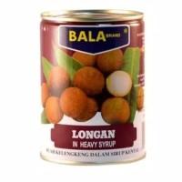Buah kelengkeng kaleng Bala Brand Longan in heavy syrup 565g