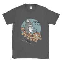 Baju Kaos Tshirt Neighbour Totoro Ride Along - Abu-abu, XS