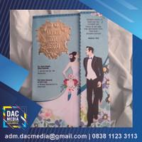 undangan pernikahan (free kartu souvenir, label, xbanner, plastik)