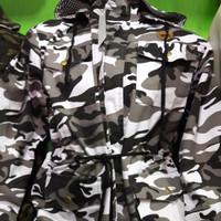Jaket Parka Vans Loreng Putih / Jaket Parka Army