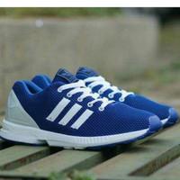 Sepatu Sneakers Adidas ZX Flux Blue Pria
