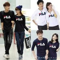 Baju Couple Fila Lengan Panjang Kaos Pasangan