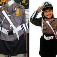 baju kostum polisi anak cewek/anak perempuan