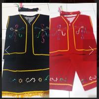 Baju adat dayak laki-laki perempuan TK SD