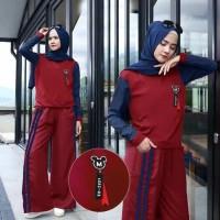 Setelan olahraga muslim/setelan kulot/baju senam/busana muslim wanita