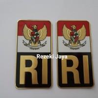 Sticker Stiker Emblem Garuda RI Plat Mobil Motor sepasang Kwalitas Ok