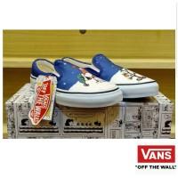 Sepatu Vans Slip On Charlie Peanuts Snoopy White Blue Purple