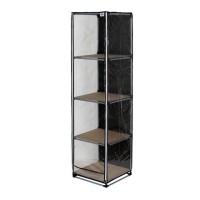 Rak lemari pajang/lemari lego/rak display/rak kosmetik - LP04 HITAM