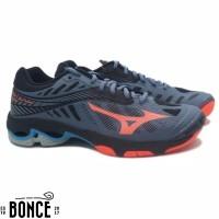Sepatu Volly Mizuno Wave Lightning Z4 - Blue Mirage Fiery