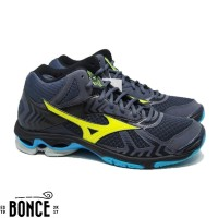 Sepatu Volly Mizuno Wave Bolt 7 MID Ombre Blue Original