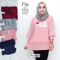 baju wanita blouse tunik fila muslim modern lucu unik trendi
