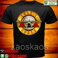 Kaos Guns N' Roses circular logo Ukuran S sd XL