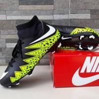 Sepatu Sepak Bola Nike Soccer Hypervenom High Hitam Hijau Import