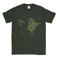 Baju Kaos Tshirt Star Wars Yoda In The Dark