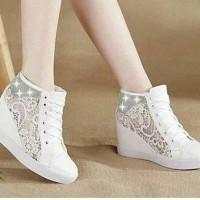 Sepatu Wanita Cewek Boots Jala Samping Ringan Adidas Nike Sneakers