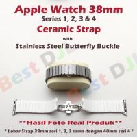 Strap Tali Jam Apple Watch 38mm Ceramic Keramik seri 1 2 3 4