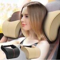 Bantal Mobil Premium Memory Foam / Bantal Leher Kulit TEBAL Empuk