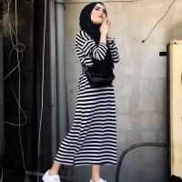 baju murah - beka stripe maxy (bhn. spandek salur)