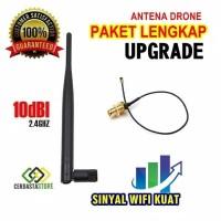 Paket Murah 10dBi 2.4Ghz Pigtail 15cm antena Upgrade drone