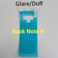 Anti Gores Screen Protector Glare Doff Back Samsung Note 9 Belakang