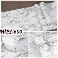 WPS600 MARBLE MARMER MIX PURPLE WALLPAPER STICKER WAL PAPER DINDING