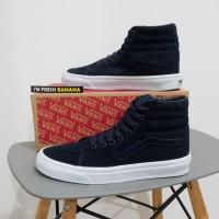 Sepatu Vans Sk8 Sk 8 Hi Mono Drees Navy Blue HIgh DT Premium Biru BNIB