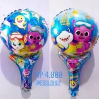 Balon Foil Baby Shark Pentungan/ Balon Pentungan Baby Shark 45 cm