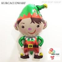 Balon Foil Kurcaci Dwarf Natal / Christmas Xmas Karakter