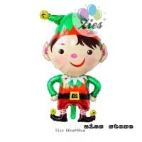 balon foil christmas dwarf / balon foil natal kurcaci
