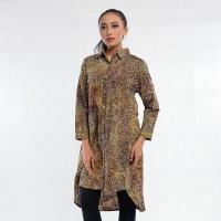 Batik Pria Tampan -DRESS PANJANG A SHIRT ABS H ONION - Cokelat, M