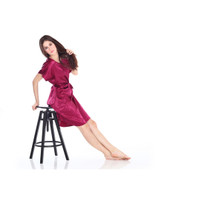 CYNTHIA Baju Tidur Drees Satin - Merah