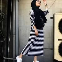 baju muslim modern BEKA STRIPE busana muslim wanita