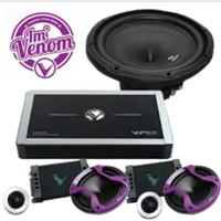 Paket Audio Venom Vertigo  subwoofer. Power dan split venom Vertigo