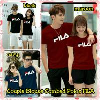 Baju Pasangan Lengan Panjang Couple Blouse Combed Polos Fila