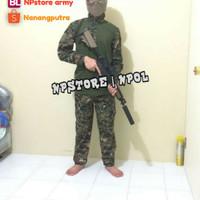 Setelan BDU + Celana Loreng Army