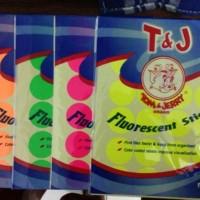 LABEL STICKER BULAT WARNA WARNI 118 diameter 32mm T&J