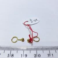 Anting bayi emas 24 karat model toge berat 0.5 gram