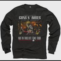 Kaos Lengan Panjang Band Guns and Roses Baju Distro Rock Metal Murah
