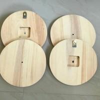 souvenir kayu jam dinding 30cm kayu pinus bahan baku souvenir jam