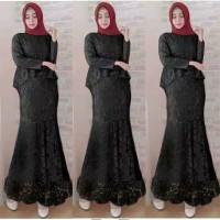 Maxi dress brokat/long dress remaja/gamis muslimah/baju pesta/duyung