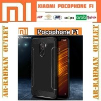 Xiaomi pocophone f1 back soft case carbon karbon casing armor softcase