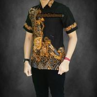 Baju Batik Pria Lengan Pendek / Kombinasi / Modern / Keren / Murah 14