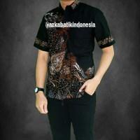 Baju Batik Pria Lengan Pendek / Kombinasi / Modern / Keren / Murah 13