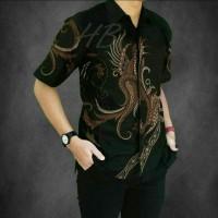 Baju Batik Pria Lengan Pendek / Kombinasi / Modern / Keren / Murah 16