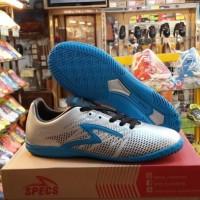Sepatu Futsal SPECS Apache In Silver Rock Blue Black Best Seller